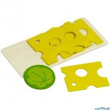 Kuchyň - Plátky sýra na prkýnku (Goki)