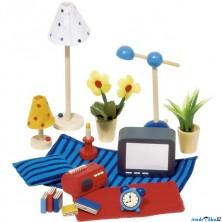 Nábytek pro panenky - Doplňky do obývacího pokoje (Goki)