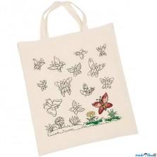 Malování na textil - Taška bavlněná, Motýli (Goki)