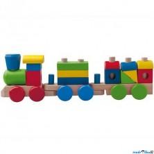 Vlak skládací - Nákladní s dvěma vagóny (Woody)