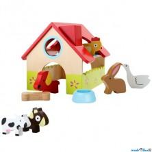 Farma dřevěná - Domeček se zvířátky (Legler)