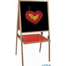 Kreslící tabule - Natur rám s poličkou, 92cm (Woody)