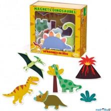 Magnetky - Dinosauři dřevěné, 20ks (Vilac)