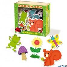 Magnetky - Zahrada dřevěné, 20ks (Vilac)