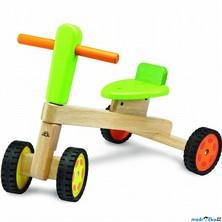 Odrážedlo - Dřevěná tříkolka zelená (Wonderworld)