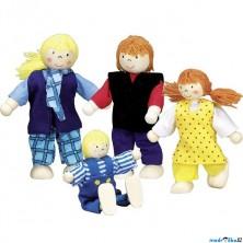 Panenky do domečku - Mladá rodina, 4ks (Goki)