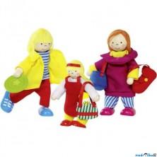 Panenky do domečku - Rodina na dovolené II., 3ks (Goki)
