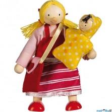 Panenky do domečku - Dcera s miminkem (Goki)