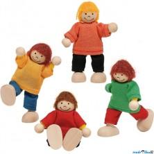 Panenky do domečku - Děti, 4ks (Goki)