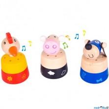 Drobné hračky - Zvířátko se zvukem, 1ks (Bigjigs)