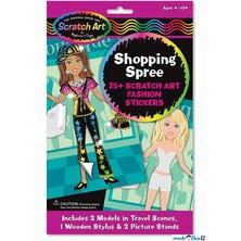 Samolepky - Škrabací, Panenky na nákupech (M&D)