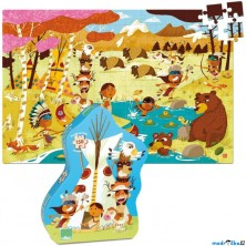 Puzzle dřevěné - Indiáni, 150ks (Vilac)