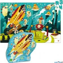 Puzzle dřevěné - Vesmírné cestování, 200ks (Vilac)