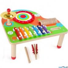Hudba - Hudební stoleček, Barevný (Legler)