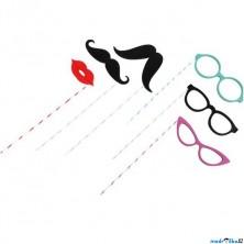 Maska - Kníry a brýle na špejlích, 6ks (Legler)