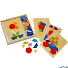 Mozaika - Dřevěná s podklady v krabičce (Legler)