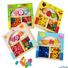 Navlékací perle - Set korálků mix malý, 1ks (Bigjigs)