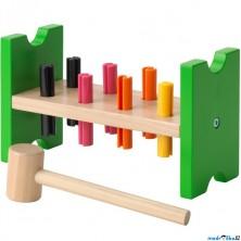 Zatloukačka - Dřevěná MULA, 8 kolíků (Ikea)