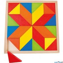 Mozaika - Dřevěná na desce, Hvězda, 24 dílků (Legler)