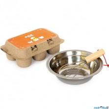 Kuchyň - Vejce dřevěná s miskou a šlehačem (Legler)