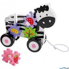 Tahací hračka - Zebra a ozubená kola (Legler)