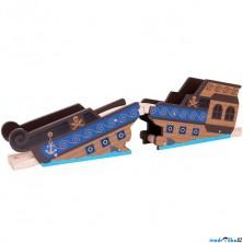 Vláčkodráha mosty - Vrak pirátské lodi (Bigjigs)
