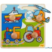 Puzzle pro nejmenší - Úchyt, Doprava, 4ks (Bigjigs)
