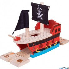 Vláčkodráha trajekt - Pirátská galéra (Bigjigs)