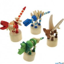 Mačkací figurka - Dinosaurus, 1ks (Woody)