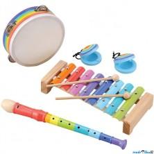 Hudba - Muzikální set, 4 nástroje (Woody)
