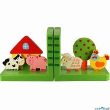 Knižní zarážky - Zvířátka na farmě, 2ks (Bigjigs)