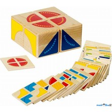 Kostky obrázkové 4ks - Skladačka se vzory (Goki)