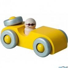 Auto - Autíčko, žluté s rezervou (Detoa)