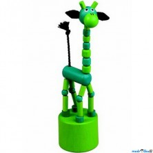 Mačkací figurka - Žirafa zelená (Detoa)