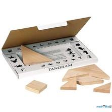 Tangram dřevěný - Přírodní v krabičce (Goki)
