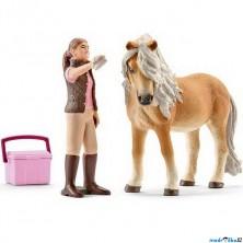 Schleich - Kůň, Islandský pony klisna s ošetřovatelkou