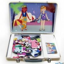 Puzzle magnetické - Kufřík, Dívky (Legler)