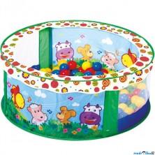 Bazén s balónky - Se zvířátky, 80 balónků (Bino)