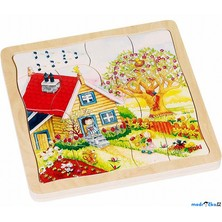 Puzzle výukové - Roční období, 54ks (Goki)