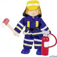 Panenky do domečku - Hasič s hasicím přístrojem a sekerou (Goki)