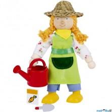 Panenky do domečku - Farmářka se slamákem (Goki)