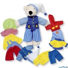 Plyšová hračka - Medvídek Tinba s oblečky, 18cm (Goki)