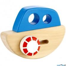 Loď dřevěná - Houpací lodička (Hape)