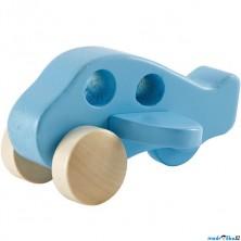 Letadlo - Dřevěné modré na kolečkách (Hape)