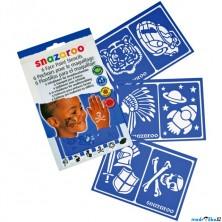 Snazaroo - Šablony na obličejové barvy 6ks, Chlapecké