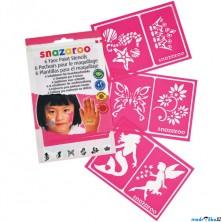 Snazaroo - Šablony na obličejové barvy 6ks, Dívčí