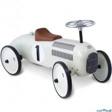 Odrážedlo kovové - Historické závodní auto, bílé (Vilac)