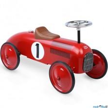 Odrážedlo kovové - Historické závodní auto, červené (Vilac)
