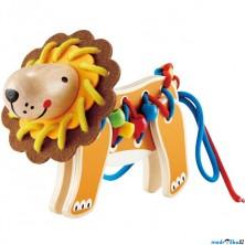 Šití - Kreativní hračka, Šněrovací dřevěný lev (Hape)