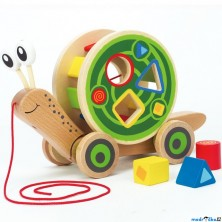 Tahací hračka - Šnek s vhazovacím válcem (Hape)